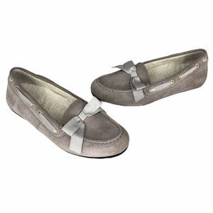 Vionic Womens Light Grey Suede Moccasins Alice
